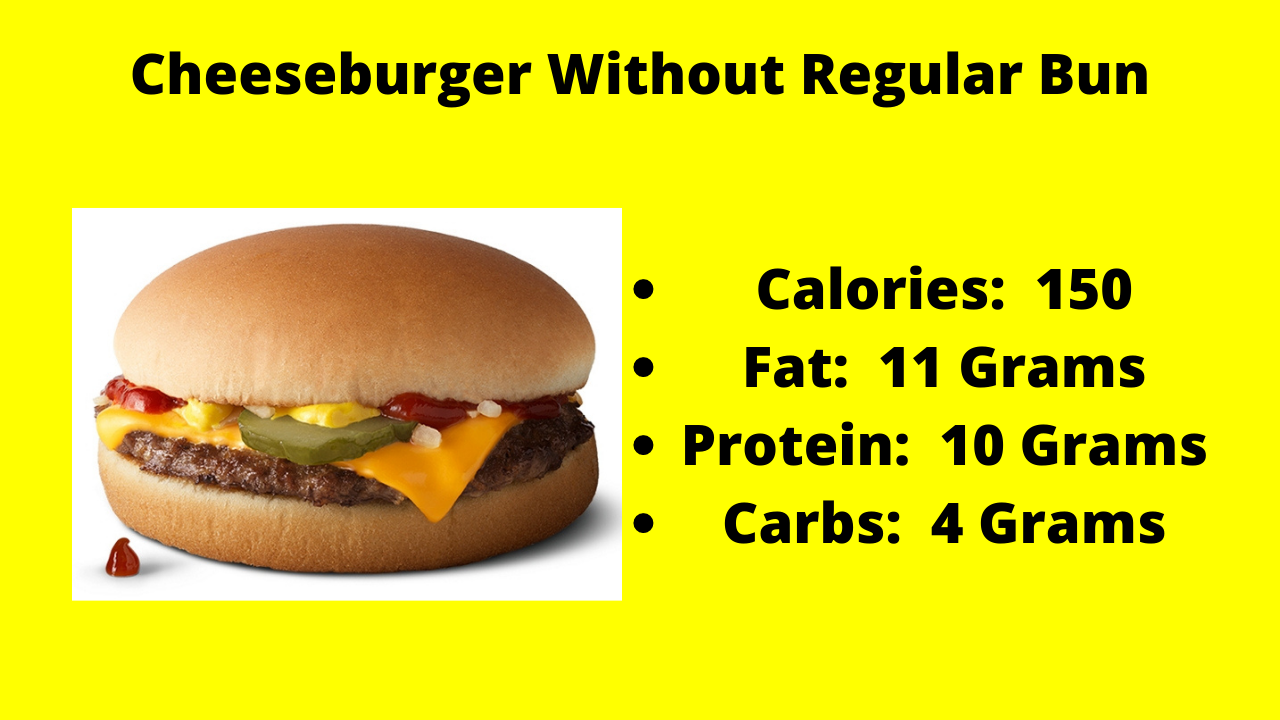 Here are the nutritional numbers for the Cheeseburger without the Regular Bun!
