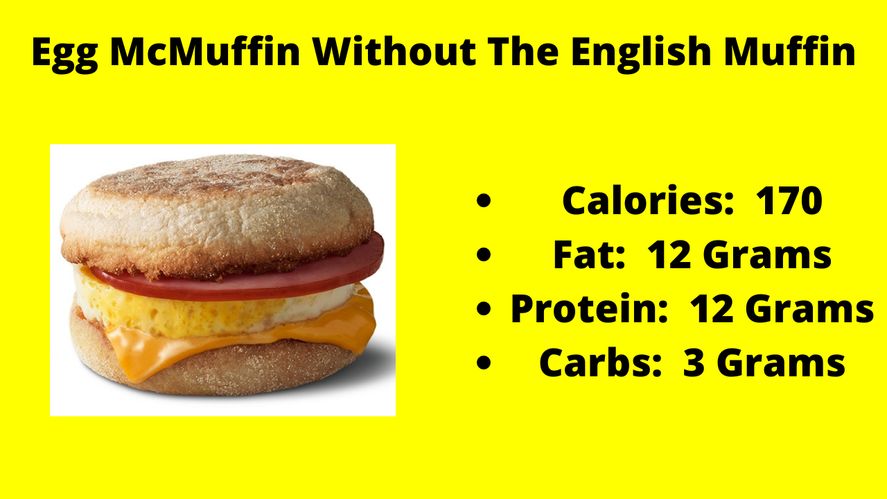Here Are The Nutritional Numbers For The Egg McMuffin Without The English Muffin!