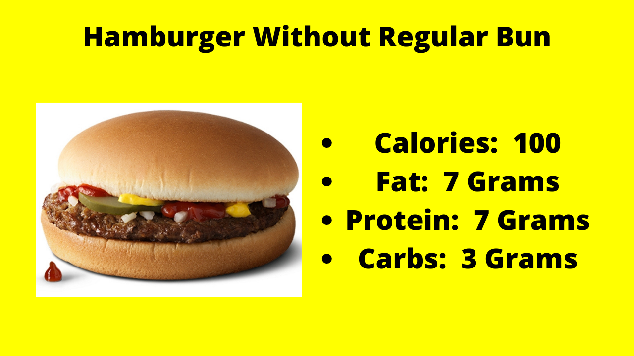 Here are the nutritional numbers for the Hamburger without the Regular Bun