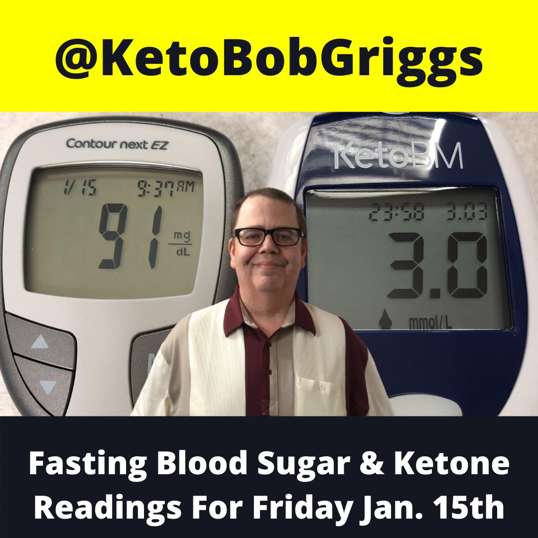 Friday January 15 Fasting Blood Sugar And Ketone Readings