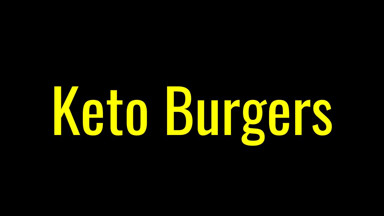 Keto Burger Options At McDonald's