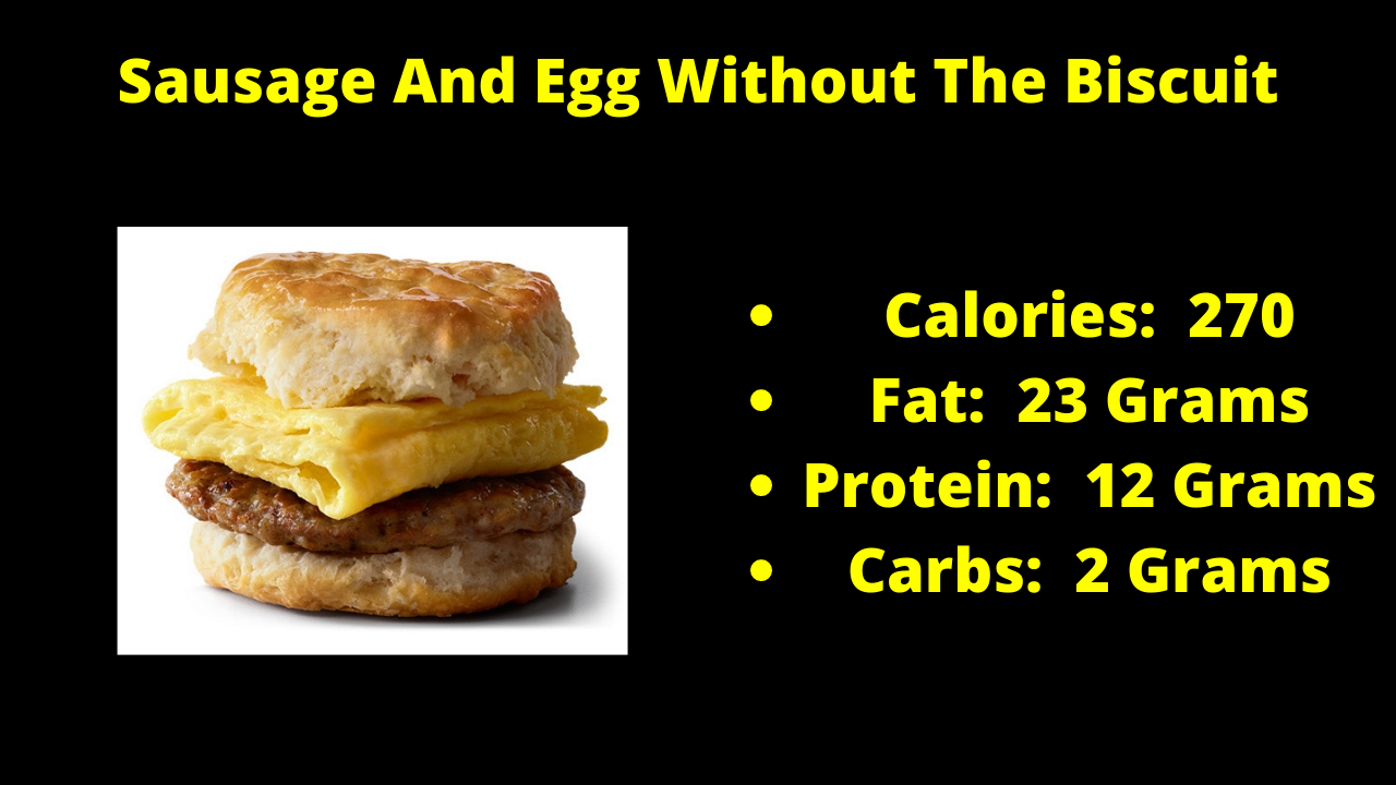 Here Are The Nutritional Numbers For The Sausage And Egg Without The Biscuit!