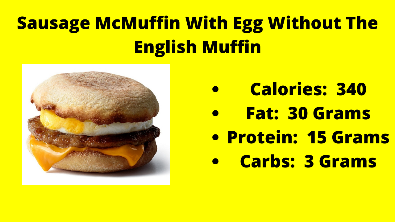 Here Are The Nutritional Numbers For The Sausage McMuffin With Egg With No English Muffin!